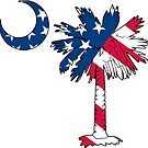 American Flag Palmetto Moon by PalmettoTrading