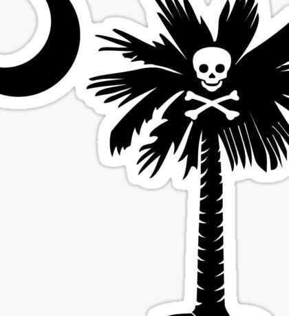 Jolly Roger Pirate Palmetto Moon Sticker