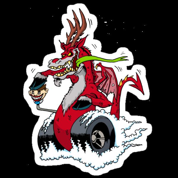 New Jersey Night Rider Sticker by monsterfink