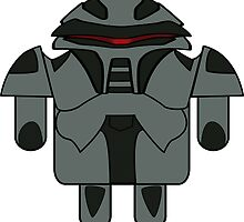 DroidArmy: Cylon Sticker by Nana Leonti