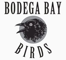 Bodega Bay Birds by waywardtees