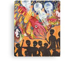 Space and Jellyfish Canvas Print