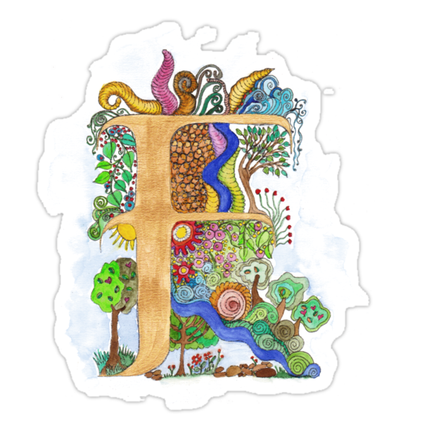 F - an illuminated letter by wiccked