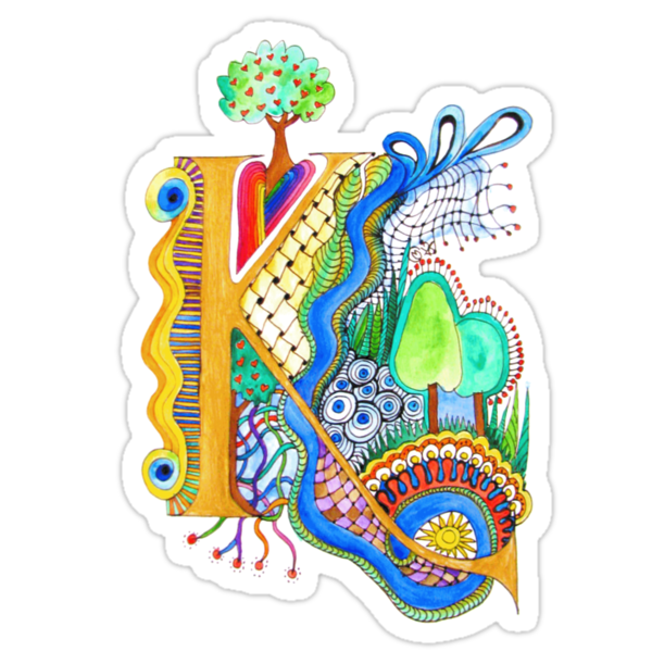 K - an illuminated letter by wiccked