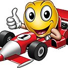 Smiley - Racing Car by GerbArt