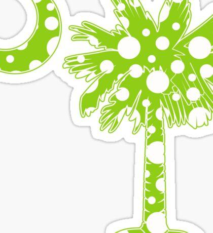 Lime Green Polka Dots Palmetto Moon Sticker