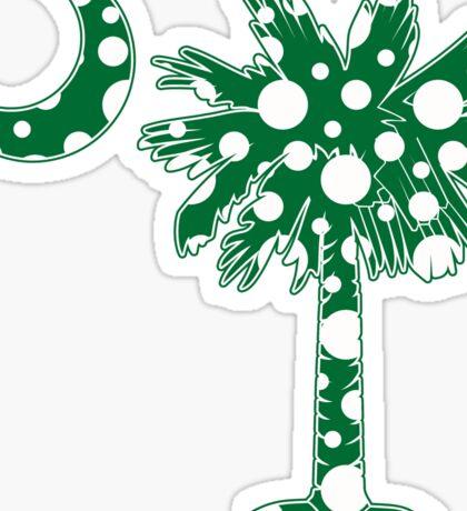 Green Polka Dots Palmetto Moon Sticker