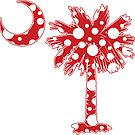 Red Polka Dots Palmetto Moon by PalmettoTrading