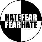 Hate Fear - Sticker by LTDesignStudio