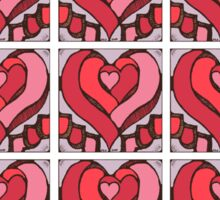 Stained Hearts 15 up Sticker