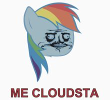 Rainbow Dash ME GUSTA (Cloudsta) One Piece - Short Sleeve