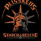 Plisskens Search and Rescue - STICKER by Vincent Carrozza