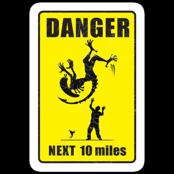 DANGER! Complicated Death Ahead - STICKER by Vincent Carrozza