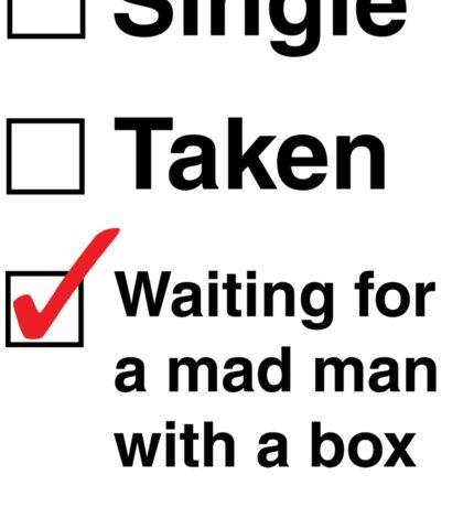 SINGLE TAKEN MAD MAN WITH A BOX STICKER Sticker