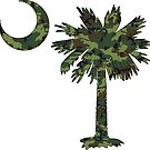 Green Camouflage Palmetto Moon by PalmettoTrading