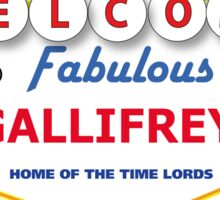 STICKER - DOCTOR WHO WELCOME TO GALLIFREY Sticker