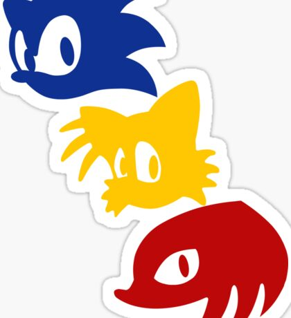 Sonic, Tails & Knuckles Sticker