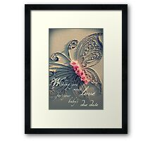 Baby's Due Date Framed Print
