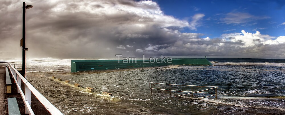 Newcastle Baths - Stormy Weather by Tam  Locke