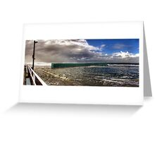 Newcastle Baths - Stormy Weather Greeting Card