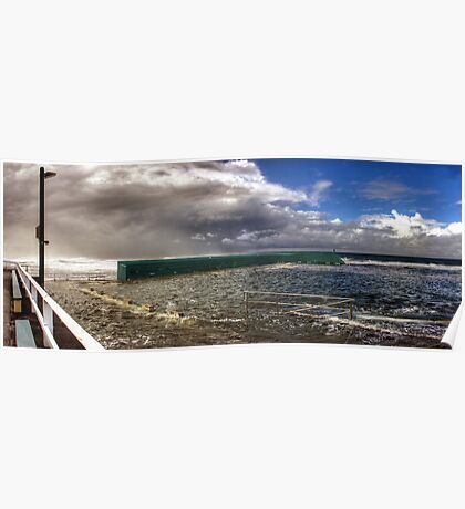 Newcastle Baths - Stormy Weather Poster