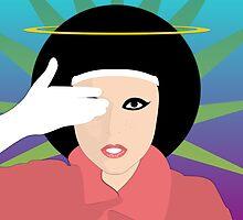 Lady Gaga Nun - Sticker by Thomas Wells
