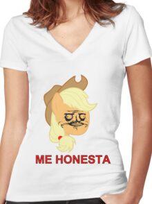 Applejack ME GUSTA (Honesta, Elements of Harmony) Women's Fitted V-Neck T-Shirt