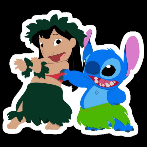 Lilo & Stitch Hula Time - Sticker by Thomas Wells
