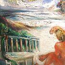 Surfer, Sand, Sea by Barbara Sparhawk