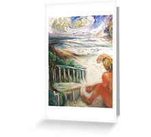 Surfer, Sand, Sea Greeting Card