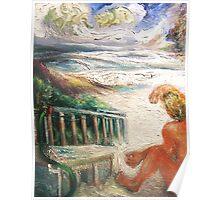 Surfer, Sand, Sea Poster