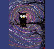 Daymare - Spooky creepy Halloween owl on branch spiral art tia knight  Unisex T-Shirt