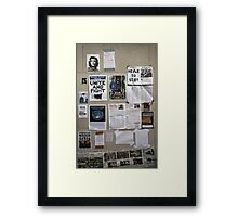 The wall of change? Framed Print