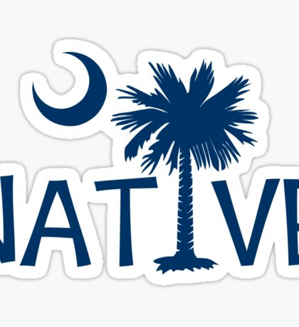 Blue South Carolina Palmetto Moon Native Sticker