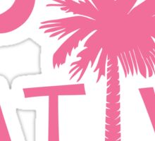 Pink South Carolina Palmetto Moon Native Sticker