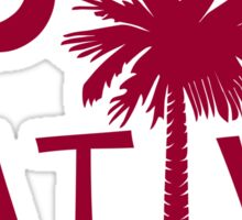 Garnet South Carolina Palmetto Moon Native Sticker