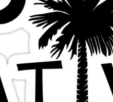 Black South Carolina Palmetto Moon Native Sticker