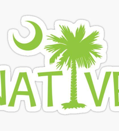 Lime Green South Carolina Palmetto Moon Native Sticker