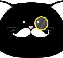 Fancy Cat - Sticker by Thomas Wells
