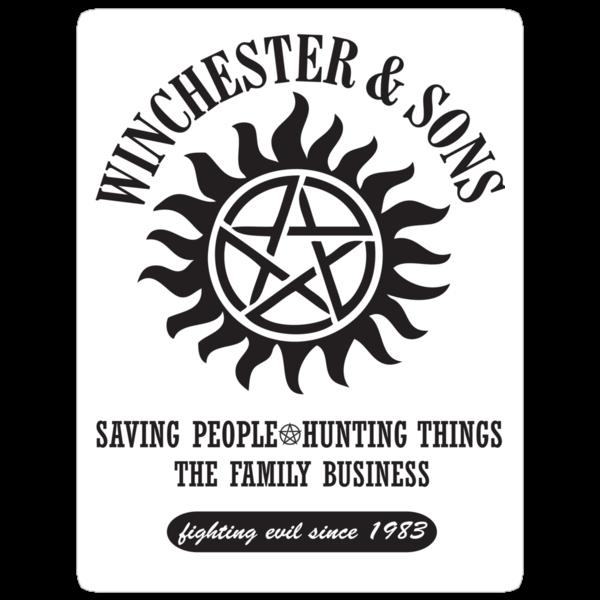 STICKER - SUPERNATURAL WINCHESTER & SONS by thischarmingfan