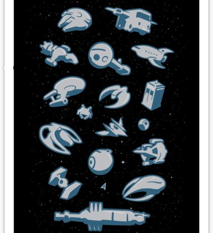 Objects in Space - STICKER Sticker