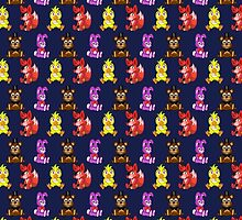 FNAF Chibi Pattern by hotcheeto89