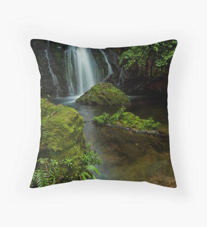 Whataroa ~ beyond the ledge Throw Pillow