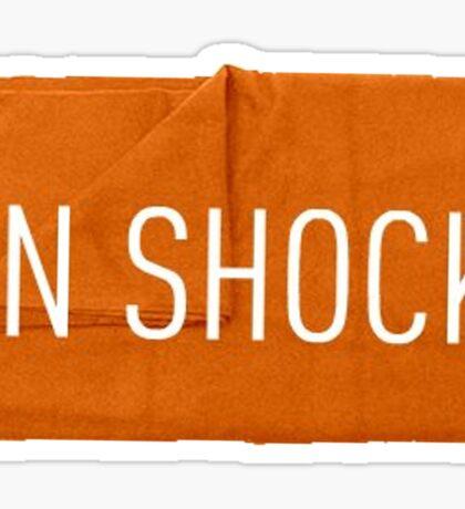In shock Sticker