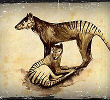 Tasmanian Tiger Thylacine by Cindy Watkins