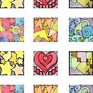 Mini Assorted Geometric Stickers by Amy-Elyse Neer