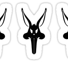 The Bunnisher Stickers Sticker