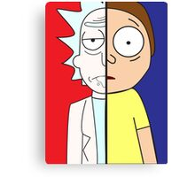 Face Off: Rick & Morty Canvas Print