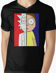 Face Off: Rick & Morty Mens V-Neck T-Shirt