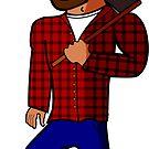 Manny the Sad Lumberjack Sticker by brennanpearson